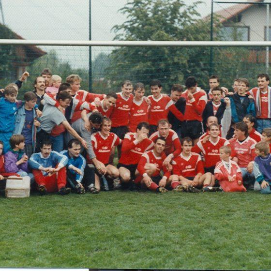 Aufstieg Bezirksliga 1990