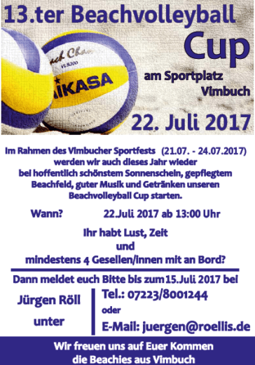 Beachvolleyballturnier am Sportfest