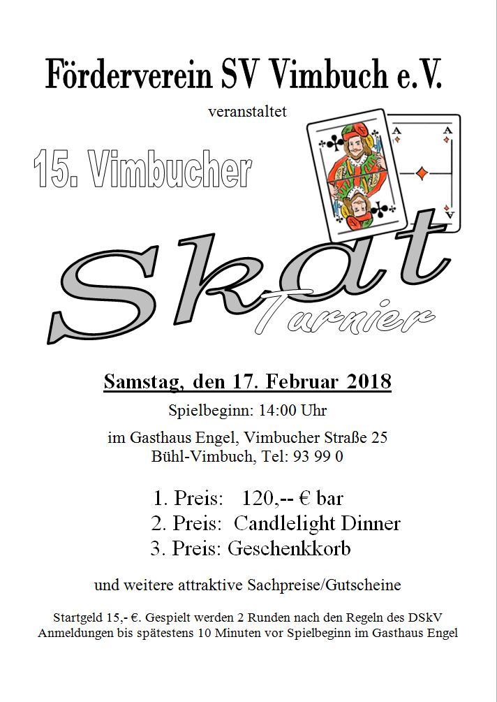 Skat-Turnier in Vimbuch